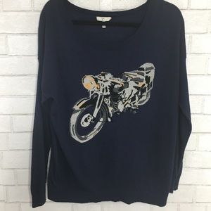 Joie Navy Motorcycle Sweater